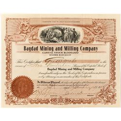 Bagdad Mining and Milling Co. Stock Certificate