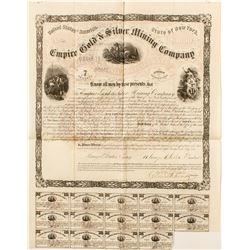 Empire Gold & Silver Mining Company Bond