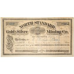North Standard Gold and Silver Mining Co. Stock Certificate