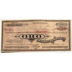 Oro Mining Company Stock