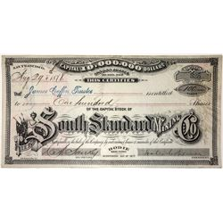 South Standard Mining Co. Stock Certificate