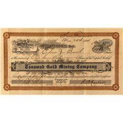 Tanawah Gold Mining Stock 1908- Mono County