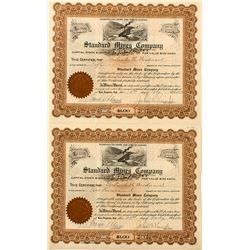 Standard Mines Co. Stock Certificates (2)