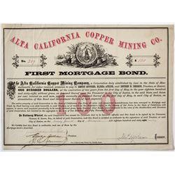 Alta California Copper Mining Co. Bond