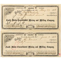Two Grass Valley Gold Mining Stock Certificates