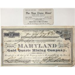 Maryland Gold Quartz Mining Company