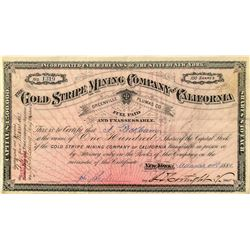 Gold Stripe Mining Co. of California, Greenville, Plumas County