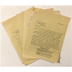 1909 Mining Company Correspondence