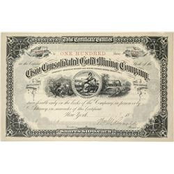 Cisco Consolidated Gold Mining Stock Certificate