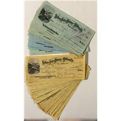 Yellow Aster Mining & Milling Co. Checks (w. R.L. Burcham signature)