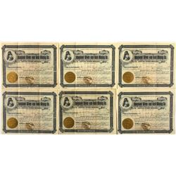 Rossland Silver & Gold Mining Co. Stocks (6), 1897