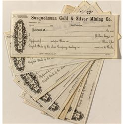 Susquehanna Gold & Silver Mining Co. Assessment Receipts