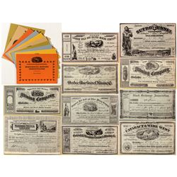 Series of Famous Mining Stock Reprints
