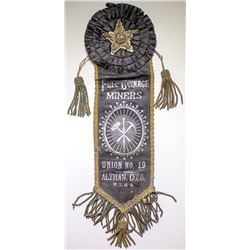 Miners' Union No. 19 Badge/Ribbon