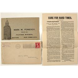 Cure for Hard Times pamphlet and envelopes