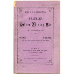 Prospectus of the Franklin Silver Mining Co.