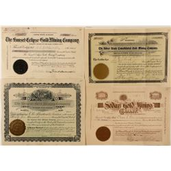 Cripple Creek Mining Stock Certificates (4)