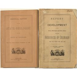 Colorado Mineral and Geology Reports (1880-1882)