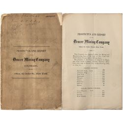 Prospectus and Report Denver Mining Company
