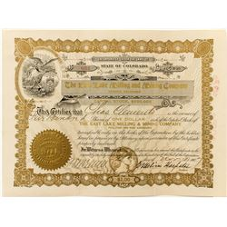 The East Lake Milling and Mining Co. Stock Certificate