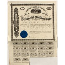 Reliance Gold and Silver Mining Company Stock Certificate