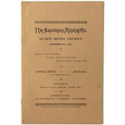 The Napoleon Mining Co. Pamphlet