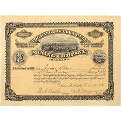 Bangkok-Cora Bell Mining Company stock certificate