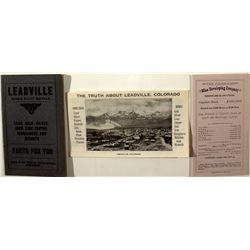 Leadville Mining Prospectuses