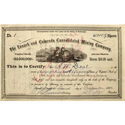 Lanark and Colorado Consolidated Mining Company stock #1