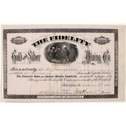 The Fidelity Gold and Silver Mining Company stock certificate