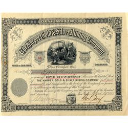 The Harper Gold & Silver Mining Company Stock 1881