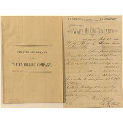 Waitz Milling Company prospectus and letterhead