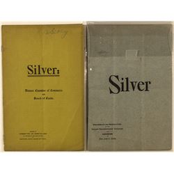"""Silver;"" two booklets on the Sherman Silver Purchase Act"