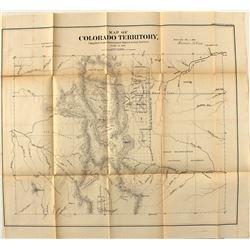 1861 Colorado Gold Rush Map