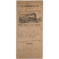 Rare Pictorial Wells Fargo Commission Envelope for Junction City