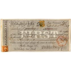 Wells Fargo First of Exchange, 1869, to Adams Express