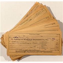 American Railway Express Co. Receipts