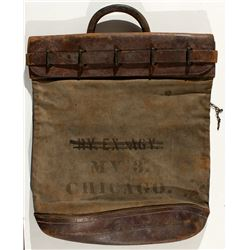 Railway Express Agency Locking Mail Bag