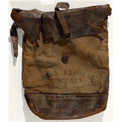 Adams Express Co. Carrier's Mail Bag