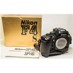 Nikon F4 S Camera Body with motor drive in original box with instruction manual