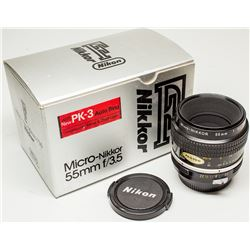 Nikkor 55mm Micro f 3.5 Manual Lens in original box