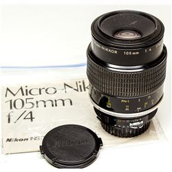 Nikkor 105mm Micro f 4 Manual Lens