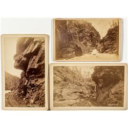 Three Historic Clear Creek Photographs (2 Railroad Related)