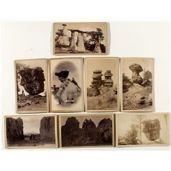 Eight Different Garden of the Gods Cabinet Cards (Hook)