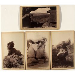 Four Different Garden of the Gods Cabinet Cards