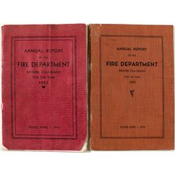 Annual Reports of the Fire Department