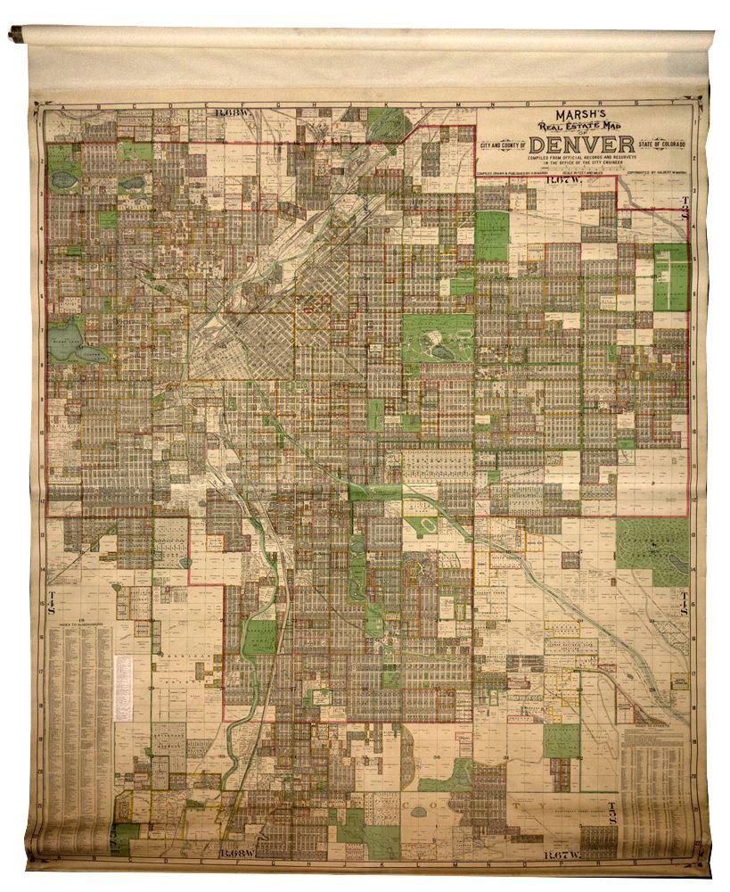 Marsh's Real Estate Map of Denver on