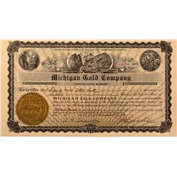 Michigan Gold Company Stock Certificate *Territorial*