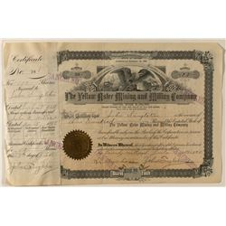 Yellow Aster Mine stock certificate