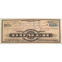 Homer Mining Company stock certificate